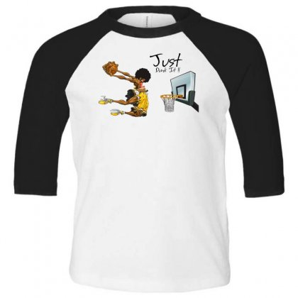 Just Dunk It Toddler 3/4 Sleeve Tee Designed By Specstore