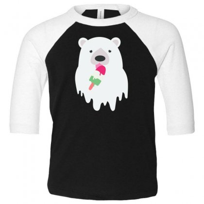 Melted Polar Cream Toddler 3/4 Sleeve Tee Designed By Specstore