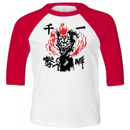Raging Demon Toddler 3/4 Sleeve Tee Designed By Specstore