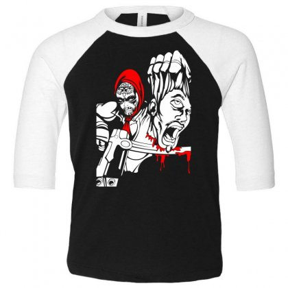 Red Murder Toddler 3/4 Sleeve Tee Designed By Specstore