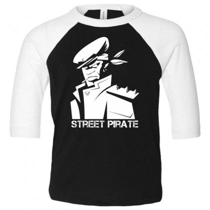 Street Pirate Toddler 3/4 Sleeve Tee Designed By Specstore
