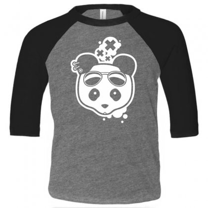 Super Hippies Panda Toddler 3/4 Sleeve Tee Designed By Specstore