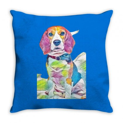 Beagle-harrier Throw Pillow Designed By Kemnabi