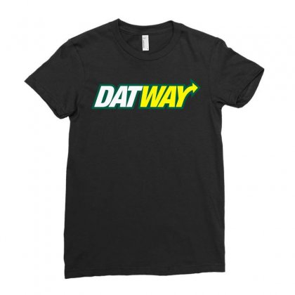 Dat Way Ladies Fitted T-shirt Designed By Artdesigntest