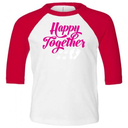 Happy Together With Pet Toddler 3/4 Sleeve Tee Designed By Specstore