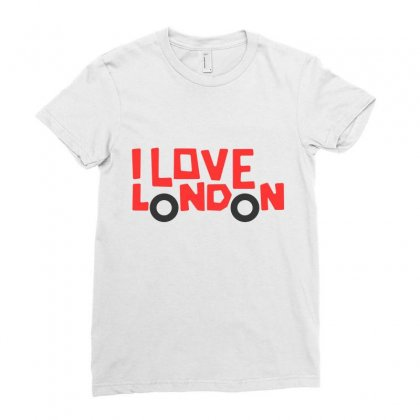 I Love London Ladies Fitted T-shirt Designed By Disgus_thing