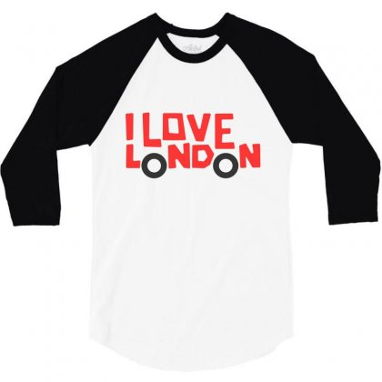 I Love London 3/4 Sleeve Shirt Designed By Disgus_thing