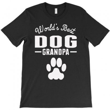 World's Best Dog Grandpa T-shirt Designed By Aheupote