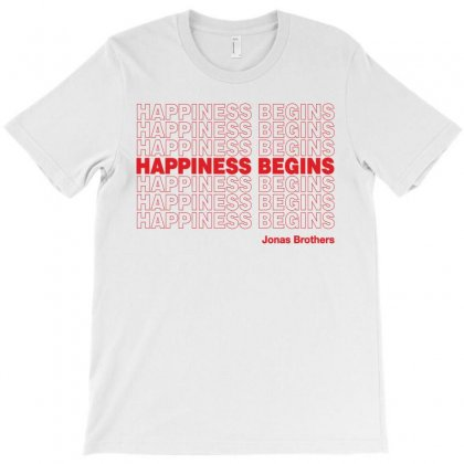Happiness Begins Jonas Brothers T-shirt Designed By Honeysuckle