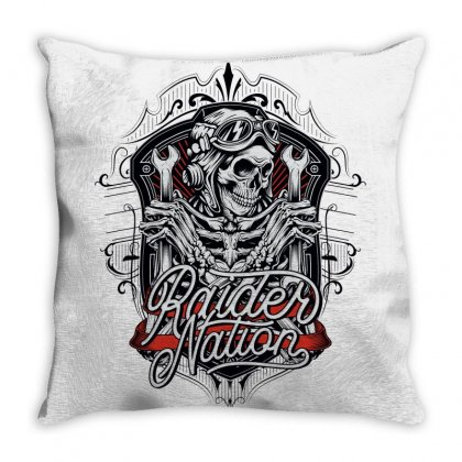 Raider Nation 1 Throw Pillow Designed By Tiococacola