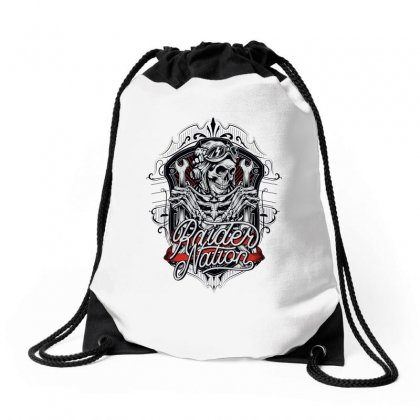 Raider Nation 1 Drawstring Bags Designed By Tiococacola