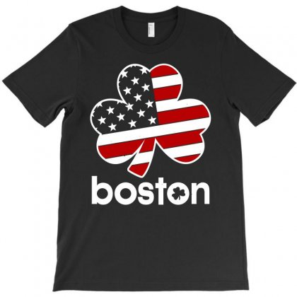 Boston Shamrock T-shirt Designed By Leodrolic