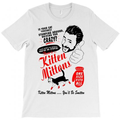 Kitten Mittons T-shirt Designed By Leodrolic