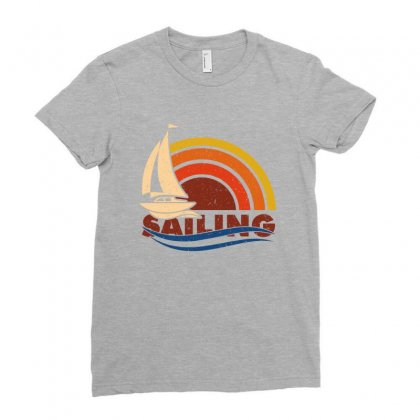 Sailing Retro Ladies Fitted T-shirt Designed By Ofutlu
