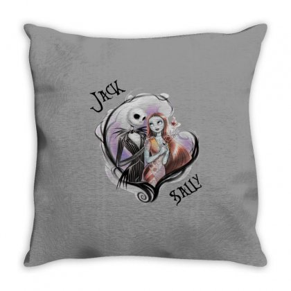 Jack And Sally Throw Pillow Designed By Amber Petty