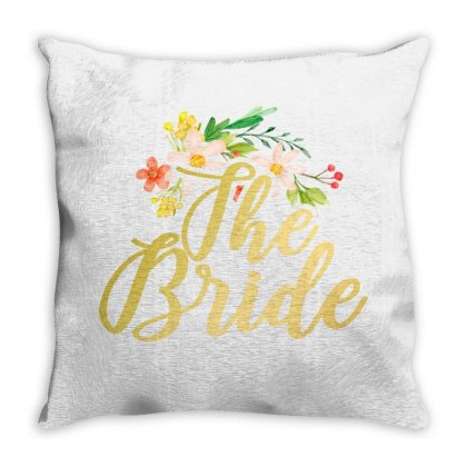 The Bride Flowers Throw Pillow Designed By Seda