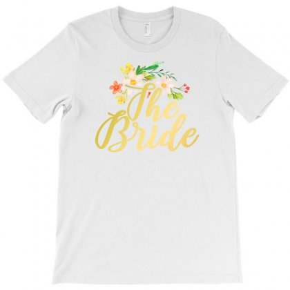 The Bride Flowers T-shirt Designed By Ofutlu