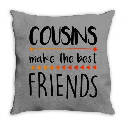 Cousins Make The Best Friends For Light Throw Pillow Designed By Seda