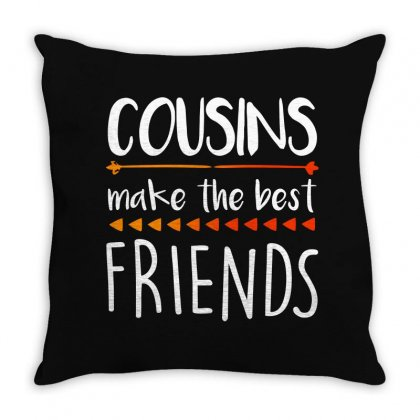 Cousins Make The Best Friends For Dark Throw Pillow Designed By Seda