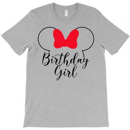 Birthday Girl Minnie Mouse For Light T-shirt Designed By Seda