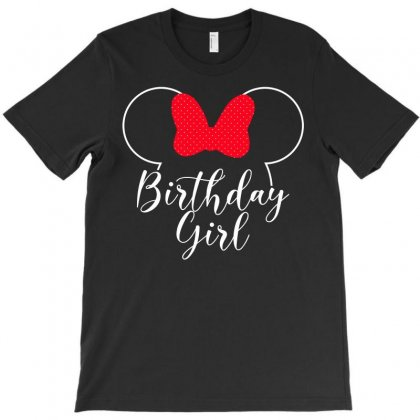 Birthday Girl Minnie Mouse For Dark T-shirt Designed By Seda