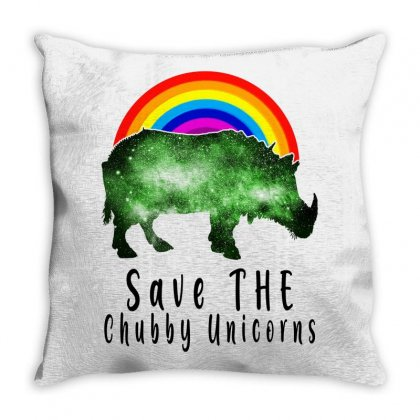 Save The Chubby Unicorns For Light Throw Pillow Designed By Gurkan