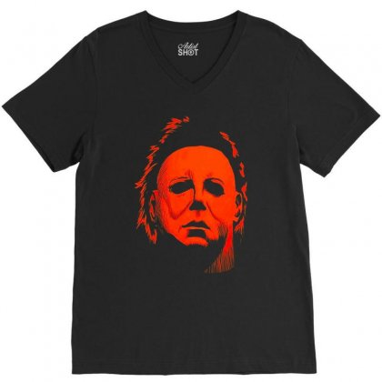 Michael Myers Halloween Dab Dabbing Killin It V-neck Tee Designed By Amber Petty