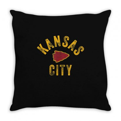 Kansas City Vintage Arrowhead Kc Fan Local Throw Pillow Designed By Amber Petty