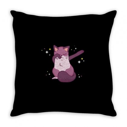 Dabbing Cat Throw Pillow Designed By Disgus_thing
