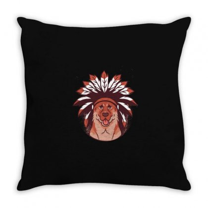 Tribal Dog Throw Pillow Designed By Disgus_thing
