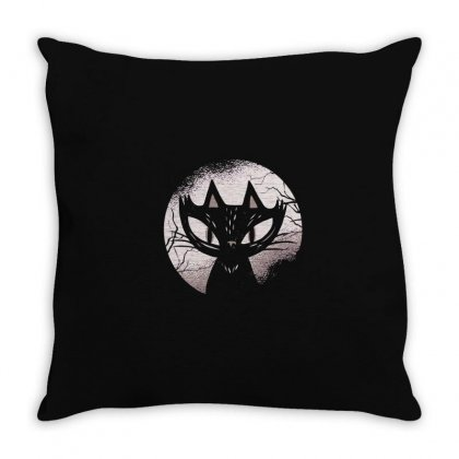 Dark Cat Throw Pillow Designed By Disgus_thing