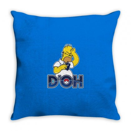 Doh Throw Pillow Designed By Disgus_thing
