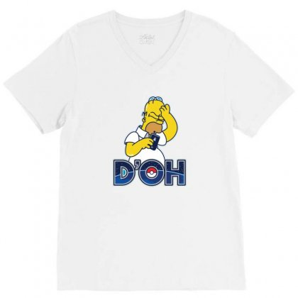 Doh V-neck Tee Designed By Disgus_thing