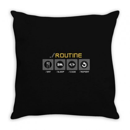 Daiy Routin Throw Pillow Designed By Disgus_thing