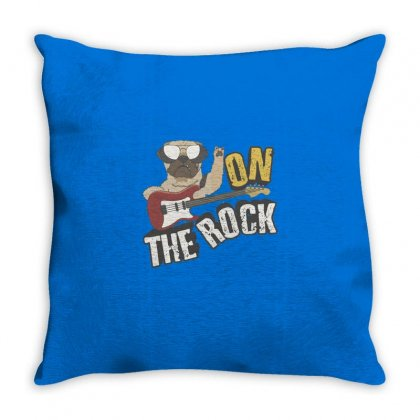 Dog The Rock Throw Pillow Designed By Disgus_thing