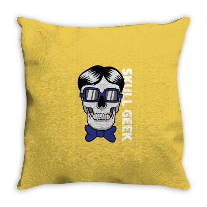 Skull Geek Throw Pillow Designed By Disgus_thing