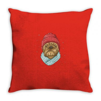 Snow Dog Throw Pillow Designed By Disgus_thing
