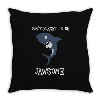 Totally Jawsome Throw Pillow Designed By Tribebol