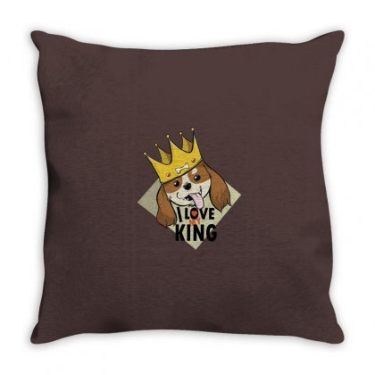 King Charles Love Throw Pillow Designed By Disgus_thing