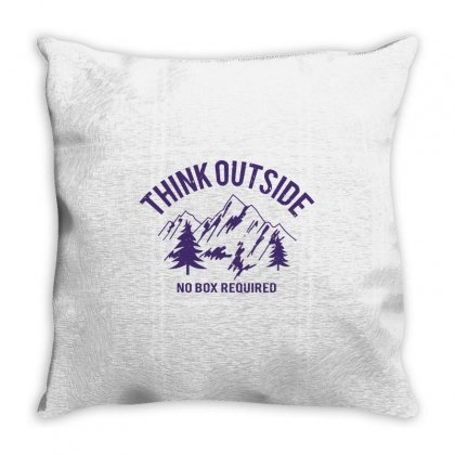 Think Outside No Box Required Throw Pillow Designed By Tribebol