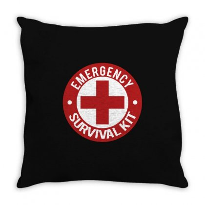 Emergency Survival Kit Throw Pillow Designed By Tribebol