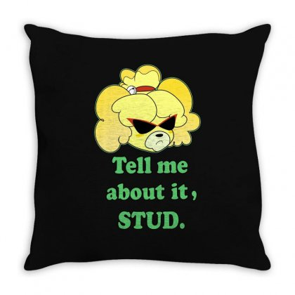 Tell Me About It Stud Throw Pillow Designed By Tribebol