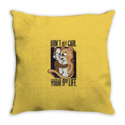 Cat Love Throw Pillow Designed By Disgus_thing