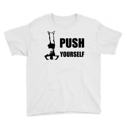 Push Yourself Youth Tee Designed By Tribebol