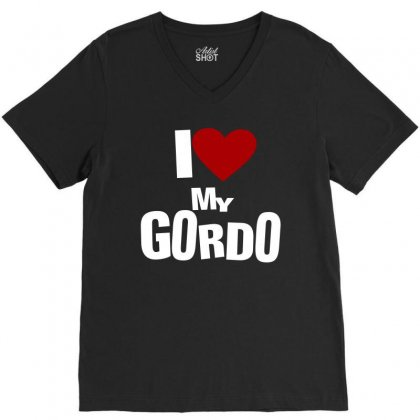 I Love My Gordo V-neck Tee Designed By Tribebol