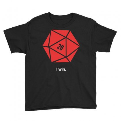I Win D20 Youth Tee Designed By Tribebol