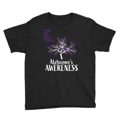 Alzheimers Awareness Support Youth Tee Designed By Omer Acar
