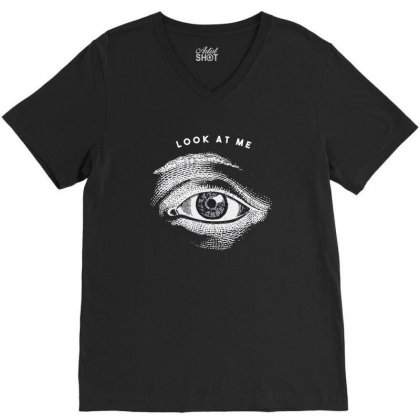 Eyes V-neck Tee Designed By Disgus_thing