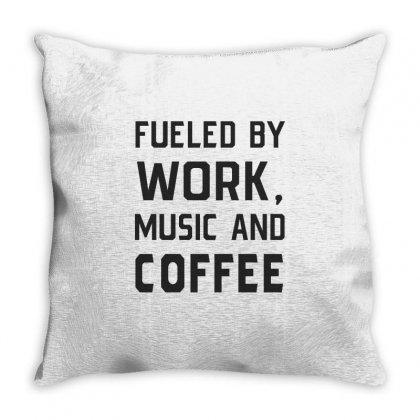 Work, Music And Coffee Throw Pillow Designed By Chris Ceconello