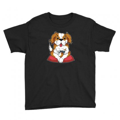 Dog Gamer Youth Tee Designed By Disgus_thing
